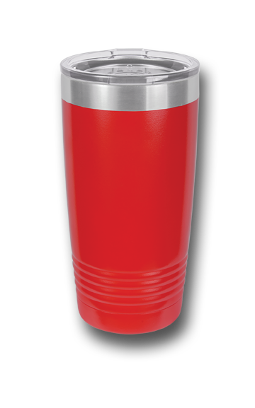 20 oz. Red Wolves Customizable Red Tumbler w/Lid