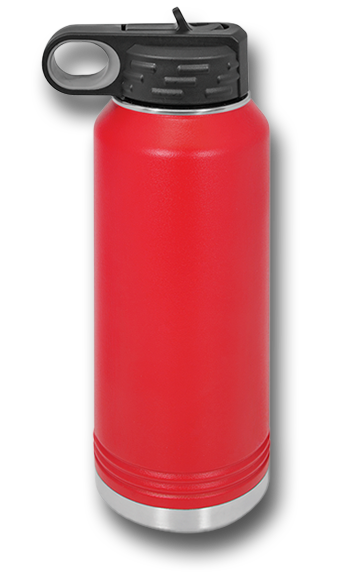 32oz Red Wolves Customizable Red Water Bottle