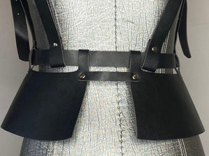Black Harness-Peplum Belt