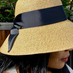 Load image into Gallery viewer, Straw Bucket Hat