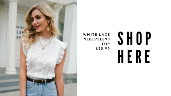 lace top ootd