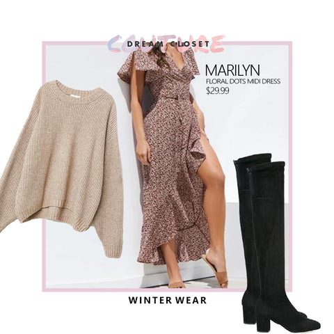 Winter Wear Maxi Dress