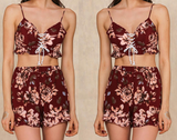 Rosarita Boho Corset Two-Piece
