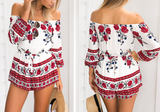 Rosa Off-the-Shoulder Romper