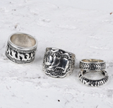 Ultimate Boho Elephant Ring Set