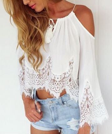 Lace Boho Sleeved Top