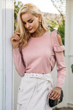 Camellia Cold Shoulder Knitted Sweater