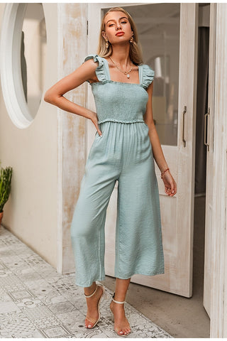 Ruffle Pleated Jumpsuit