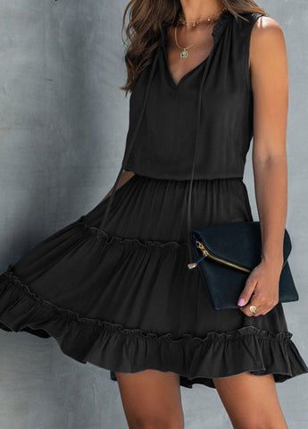 Sleeveless Ruched Cotton Chic Boho Dress