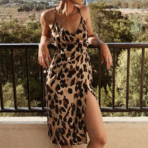 Summer Leopard Print Dress