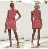 Floral Halter Strapless Mini Sundress