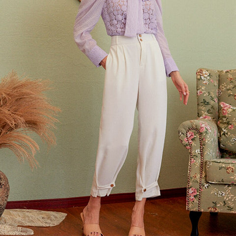 Casual Office Ladies British Style Trousers
