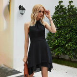 Elegant Backless Party Mini Dress