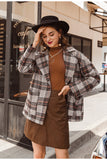 Casual Plaid Coat