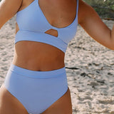 Cutout High Waist Push Up Bikini