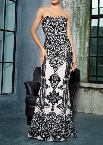 Jolynn Black Detailed Maxi Formal Gown