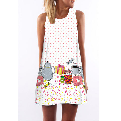Lulu Flamingo Chiffon Dress