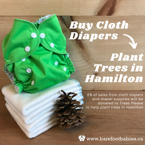 Buy cloth diapers and plant trees in Hamilton