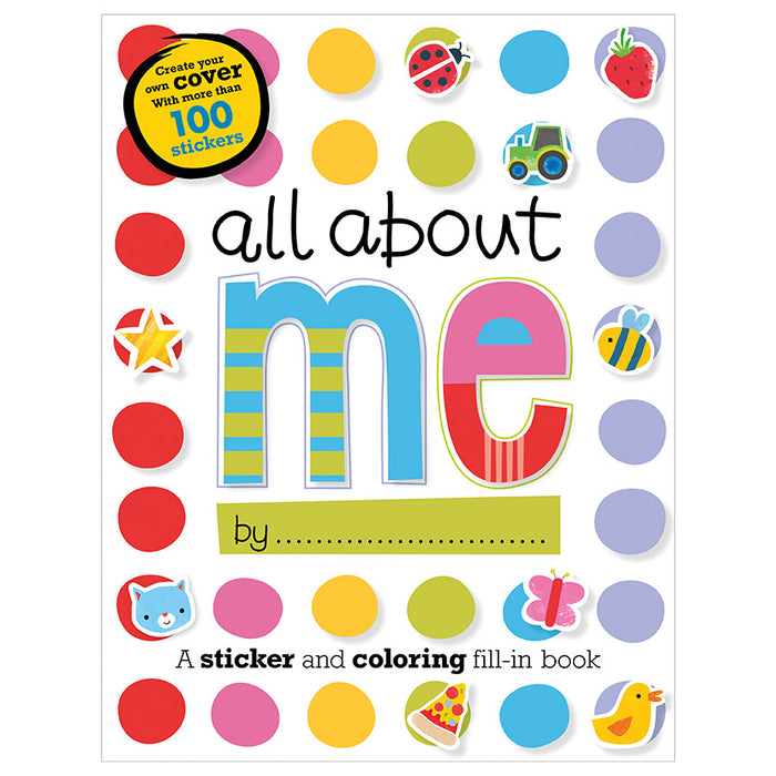 All about me - a sticker and colouring fill in book