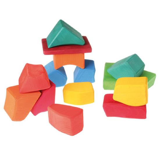 Grimm's - Stacking Blocks (Large, Multicoloured)