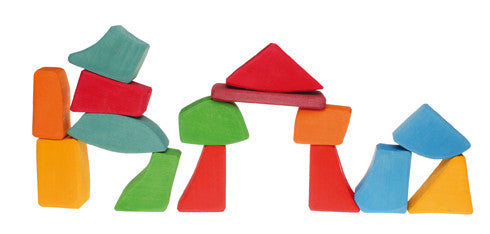 Grimm's - multi coloured stacking blocks - 15 pieces