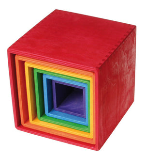 Grimm's - Stacking Boxes (Large, Rainbow)