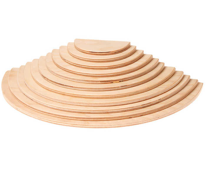 grimm's - large semicircles - natural 11pcs