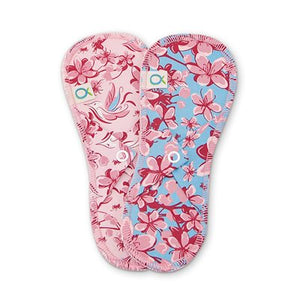 Öko Creations - Cloth Pads, Mini Panty Liners - 2 pack