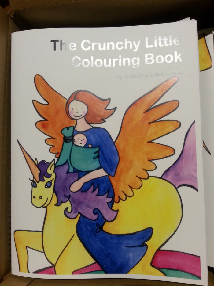 the CRUNCHY little Colouring Book and Crayons Bundle!