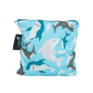 Sharks Large Reusable Snack Bag by Colibri