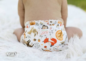 Woodland Babies (print) AMP One Size Duo Pocket Cover