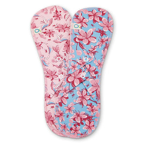 Öko Creations - Cloth Pads, Heavy Flow (Long) - 2 pack