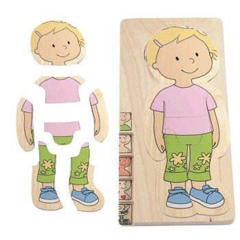 Hape - Your Body Puzzle - Girl