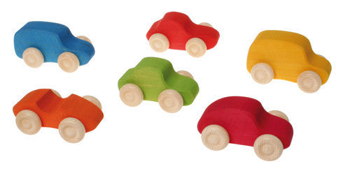 Grimm's - Wooden Vehicles (Coloured) *Sold Individually*
