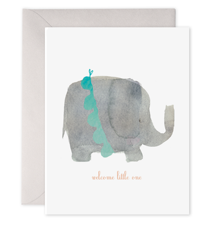 Welcome Little One - Elephant - E. Frances Paper greeting card