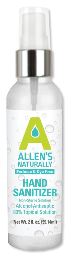 Allen's Naturally 2 oz Hand Sanitizer Spray