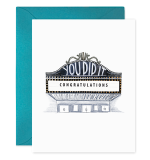 Congratulations Marquee (You Did It) - E. Frances Paper greeting card