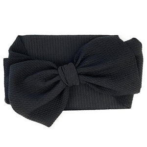 Black Giant Lana Bow Headband by Baby Wisp