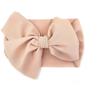 Dusty Rose Giant Lana Bow Headband by Baby Wisp
