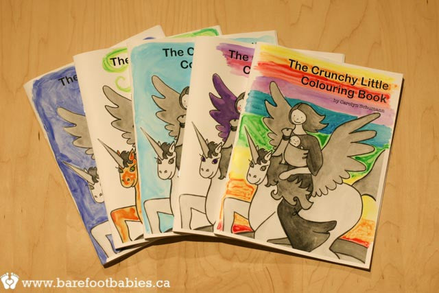 the CRUNCHY little Colouring Book - OOAK Hand-Tinted Edition