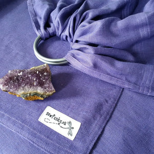 Amethyst Sewfunky Linen Ring Sling with Gathered Shoulder