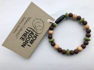 Neutral Papa Bracelet Teething Jewellery by How I Adorn Thee