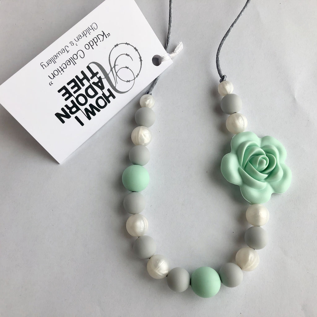 Artic Rose Kiddo Collection Teething Jewellery by How I Adorn Thee