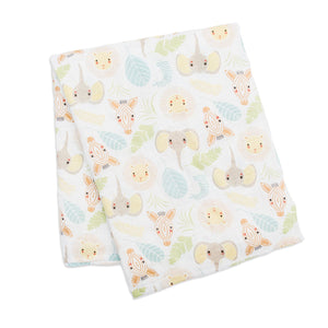 Jungle Safari Lulujo Muslin Swaddles Blanket (Cotton)