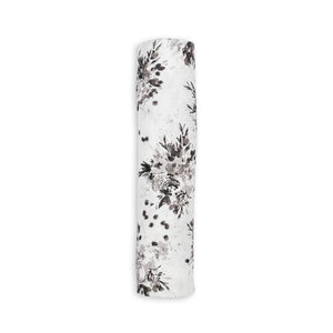 Black Floral Lulujo Swaddle - Bamboo Modern Collection