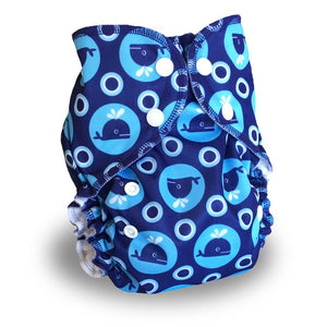 Whales (print) AMP One Size Duo Pocket Cover