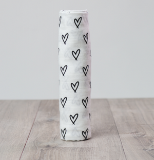 Hearts Lulujo Swaddle - Bamboo Modern Collection