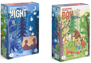 Night and Day in the Forest - reversible 54 piece puzzle by Londji