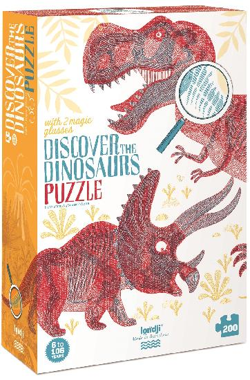 Discover the Dinosaurs - 200 piece puzzle by Londji