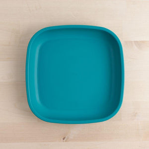 Teal Re-Play Large Flat Plate